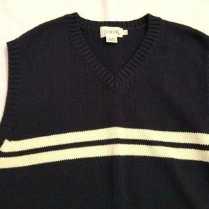 J. Crew Sweaters - Men's J Crew V Neck Sweater Vest Navy Cotton L